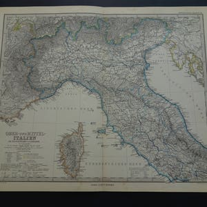 Large map of bologna Etsy