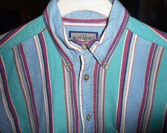 Vintage Denim Shirt  80's   Size Medium  by RUFF HEWN     Never Worn,