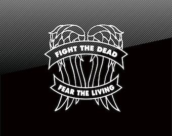 The Walking Dead Daryl FIGHT THE DEAD Vinyl Decal Sticker