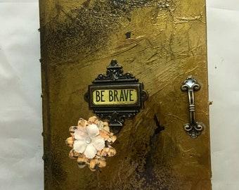 Be brave journal - artist sketchbook -artist workbook -sketches - writers journal - writers gift -artist gift- personal sketchbook - diary