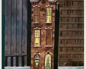 Postcard featuring a famous 'New Yorker' cover. Narrow House - December 1977. BIG discount for multiple purchases!!