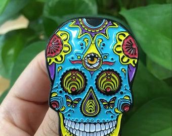 Bassnectar Sugar Skull Hat Pin