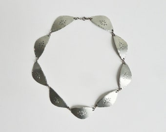 Raw 60s Pewter Necklace // V.H. Tin // Made In Denmark