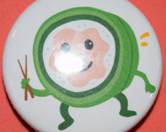 Sushi roll cartoon 1.5 Button