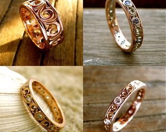 Order Your Custom Made Wedding or Anniversary Ring with Scrolls Here - For Deposit Only