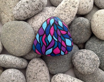 Painted rocks, painted stones, hand painted rocks, decorative rocks, birthday gift, piedras pintadas, birthday present, rock painting