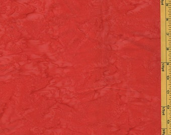 Batik Fabric -  Sun Drenched Bali - 07088-10 - Hot Red-Orange