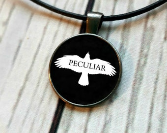 Miss Peregrine's Home For Peculiar Children Peculiar Ransom Riggs Pendant Necklace Jewelry Book Necklace Stay Peculiar