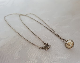 Vintage pearl pendant etsy sterling silver pearl pendant pearl cage pendant silver pearl pendant sterling silver chain mozeypictures Gallery