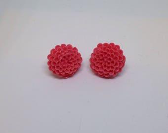 flower stud earrings-stud earrings-flower studs-resin flowers-resin flower earrings-gifts for her
