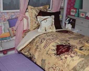 Map bedding etsy doll bedding set harry potter hp marauders map harry potter doll bedding gumiabroncs Choice Image