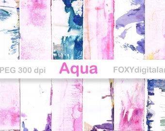 Watercolor Digital Paper, Hand Painted Watercolor Paper, Scrapbooking, Watercolor Background, Brush Strokes, Ink, Paint, Blogs, Web Design