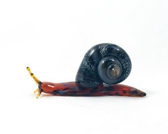 Garden Snail - Borosilicate Glass Sculpture