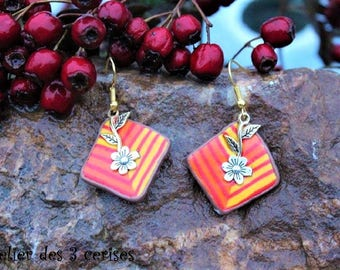 Autumn earrings made of polymer clay.