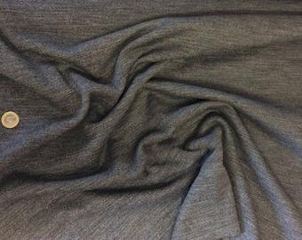 Thick jersey fabric, black/white