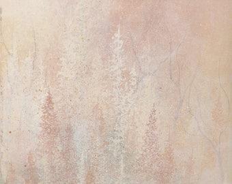 Canvas Print - Metallic Pink Forest Nature Art Print  12x16 18x24 24x32, Unframed