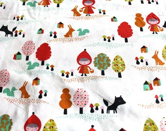 Coupon fabric girl 50 x 70 cm little Red Riding Hood