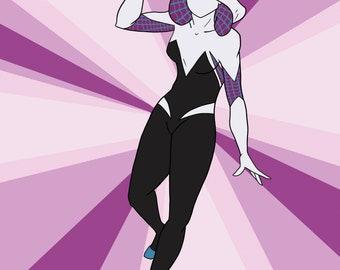 """Spider-Gwen 8.5x11"""" Print"""