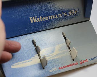 Waterman's JIF Rare Box paper 7 x 3 x 1″ B035 Fountain Pen Box Pen Case Original Vintage Rare