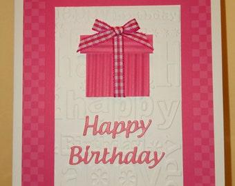 Fuschia birthday present card