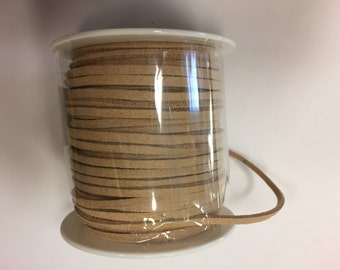 Suede cord 2mm , 70 feet in a roll, 1roll