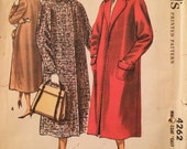 1950s McCall's 4262 Vintage Coat Pattern  -  Easy to Sew