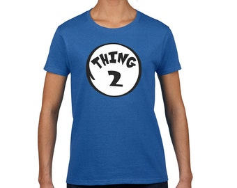 Thing 2, Thing Two Women's Fashion Round Neck T-Shirt