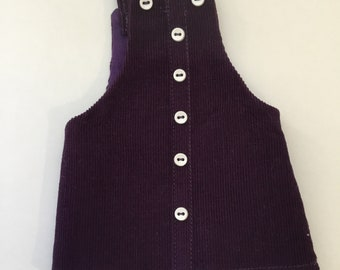 "14.5"" Doll Clothes - Plum Corduroy Jumper - To fit Wellie Wishers"