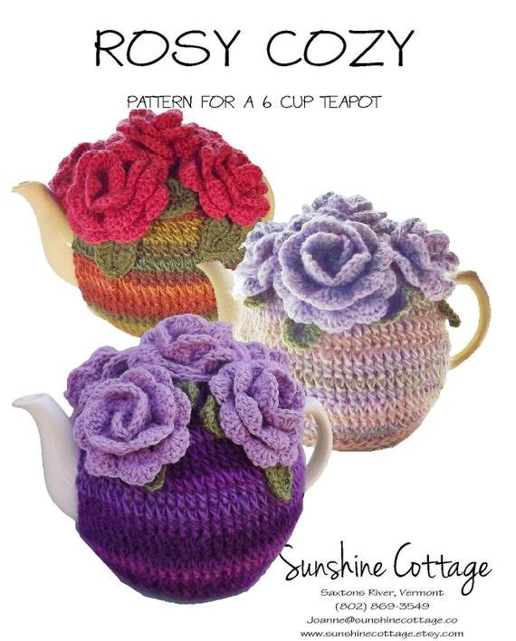 6 Cup Tea Cozy Pattern Rose Tea Cozy Pattern Crochet Tea