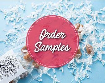 Caramels / edible favors / wedding favors / bridal shower favor / cheap wedding favors / party favors / personalized gift