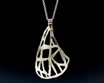Sterling Silver Moth Wing Pendant