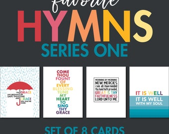 Hymn Greeting Cards - Series One - Set of 8 Cards (2 of each design)