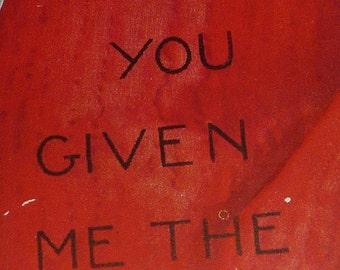NEW Listing**1930s Vintage Red Mitten Valentine Card