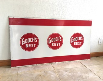 Large Vintage Gooch's Best Farm Sign
