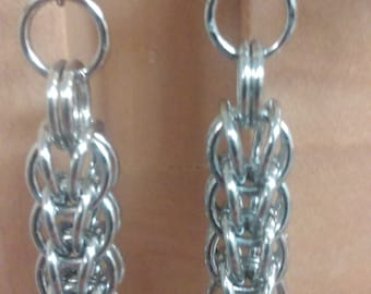 Full-Persian Chainmail Earrings (Silver)