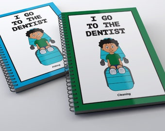 I Go To The Dentist Childrens Book ( Filling/Cleaning ) - Boy Package non-laminated/ PECS