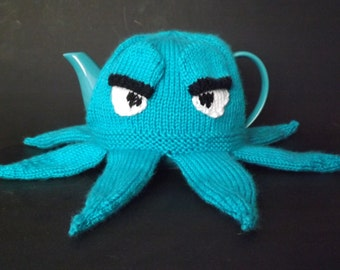 Knit Octopus Teapot Cozy - Knit Teapot Cosy - Knitted Tea Cosy - Knit Teapot Cover