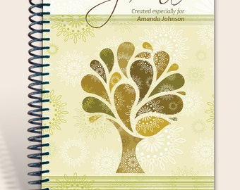 Vintage Tree / Journal Notebook / Prayer Journal Personalized  / Jeremiah 29:11