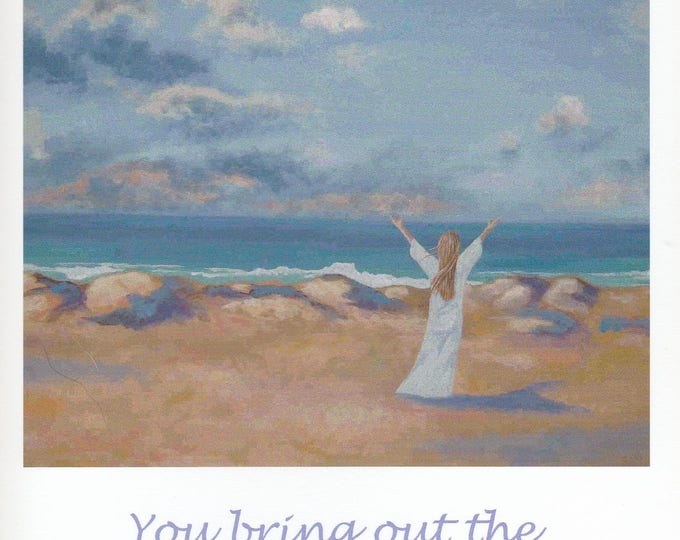 You Bring Out the Blessed In Me greeting card