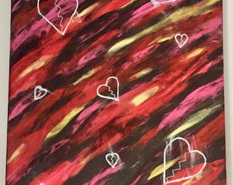 "18"" x 24"" Acrylic Painting - Ragepainting #3: Loves Me Not"