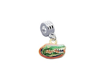 Florida Gators GLITTER European Charm for Bracelet
