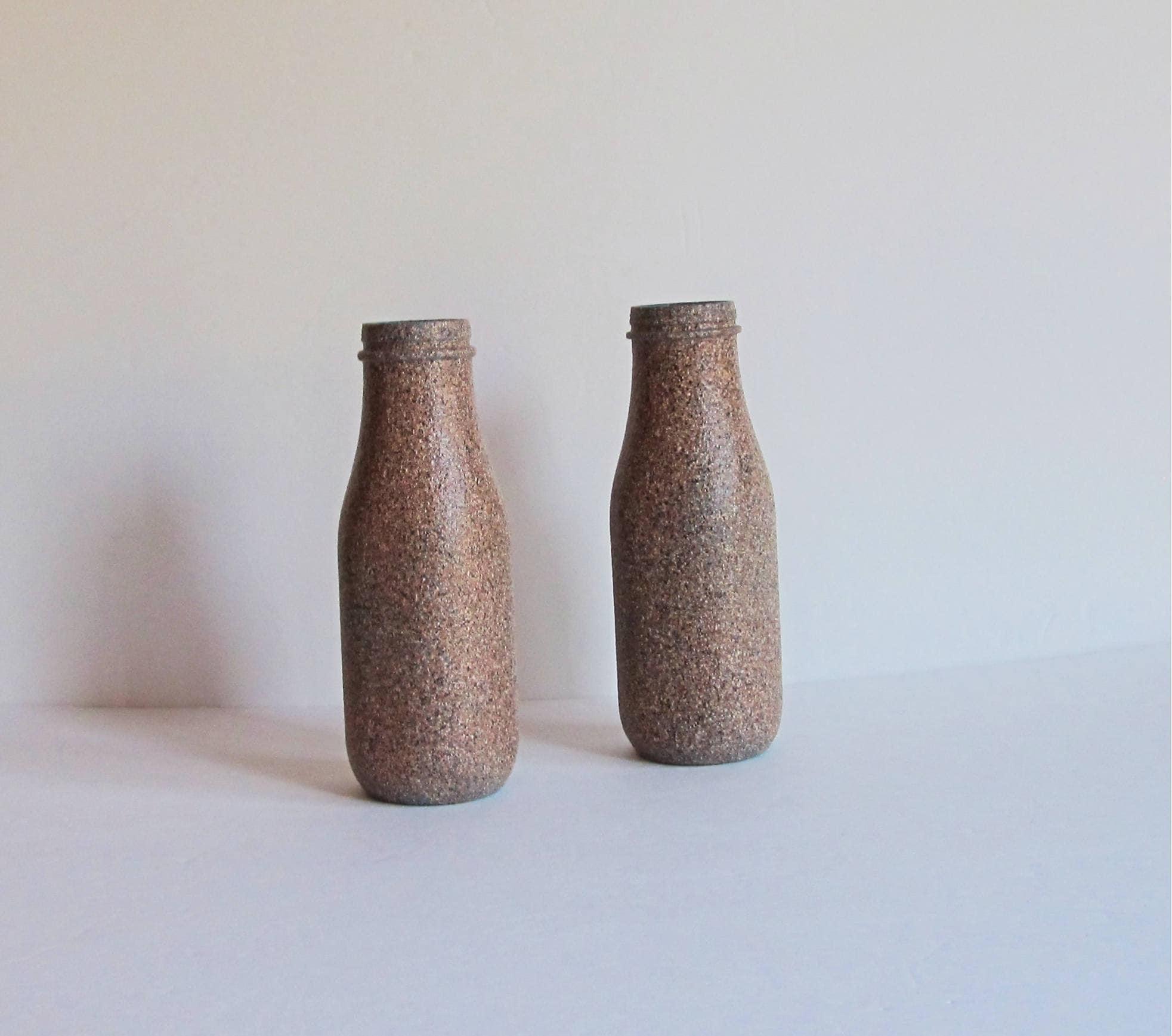 Brown vase set stone vase set flower vase set milk jug zoom reviewsmspy