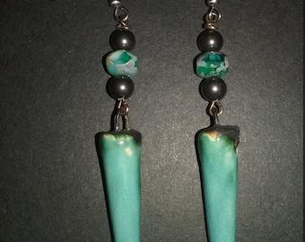 Kristy~Gift For Her~Ladies Earrings~Statement Earrings~Boho Earrings~Swarovski Earrings~Pearl Earrings~Turquoise Earrings~Beach Boho~Gipsy