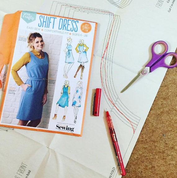 Shift Dress Sewing Pattern Pack - Sewing Gift - Gift for Dressmakers ...