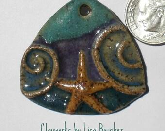 Sea Trapeze Stoneware Starfish Pendant