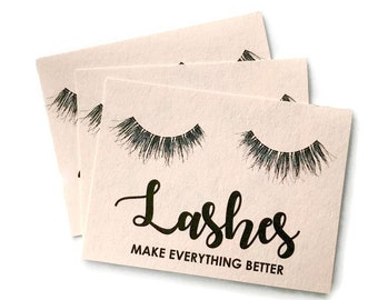 Lashes Postcard. 8 Designs. Watercolor notecard prints. Planner and scrapbook embellishments. Girly Stationery and gifts. Happy Mail gifts