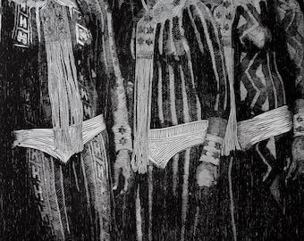 Woodblock print, (in)decência,
