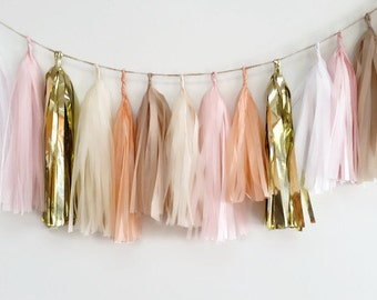 Tassel Garland, Champagne fringe,gold champagne tassel,wedding tassel garland, engagement party garland, baby shower, party decoration