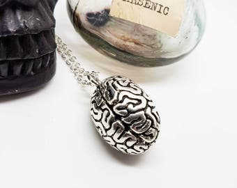 Brain necklace, anatomical brain, zombie brain, Medical Necklace, Halloween