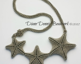 Star Light Star Bright Necklace Kit in Light Pewter Seed Beads